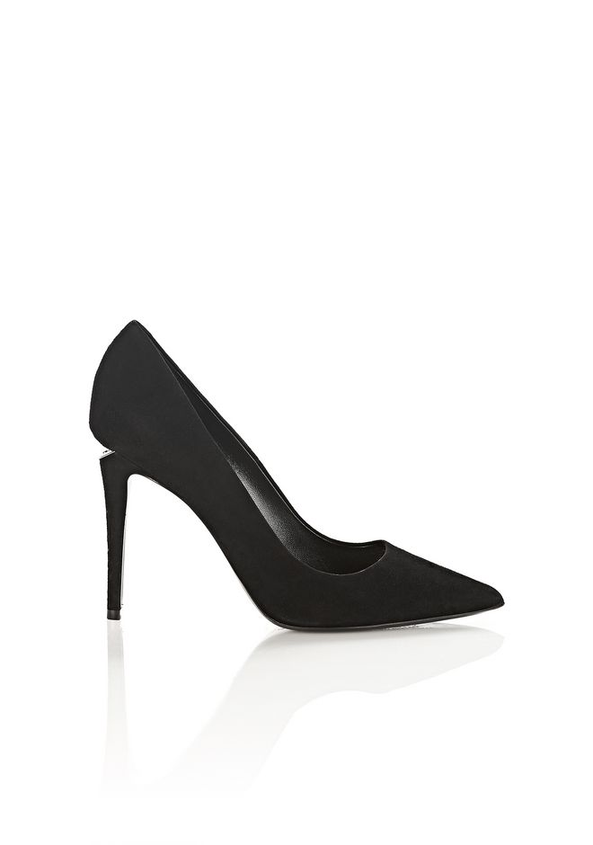 ALEXANDER WANG Heels TIA SUEDE HIGH HEEL PUMP WITH RHODIUM
