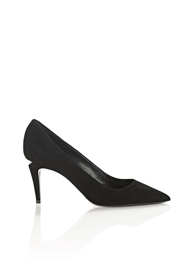 ALEXANDER WANG Heels Women TRISTA SUEDE MID HEEL PUMP WITH RHODIUM
