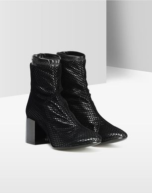 Fishnet ankle boots