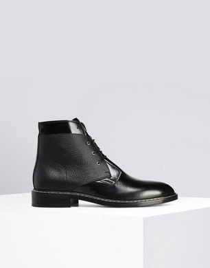 Calfskin lace-up boots