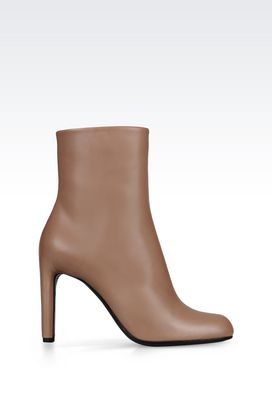 Armani High-heeled boots Women heavy-duty boot in calfskin