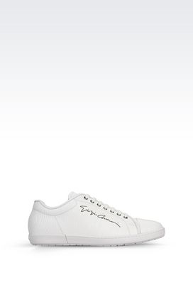 Armani Sneakers Men sneaker in calfskin