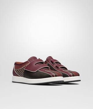 SNEAKER IN BRICK MULTICOLOR CALF INTRECCIATO