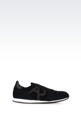 Armani Sneakers Men sneaker in velvet and suede