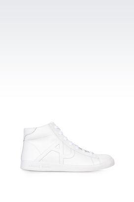 Armani Hochgeschlossener Sneakern Für Ihn hohe sneakers aus leder