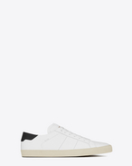 Signature COURT CLASSIC SL/06 Sneaker in White and black Leather