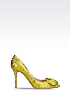 Armani Decolleté con tacco Donna scarpa decolleté in pelle metallizzata craquele