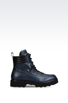 Armani Combat boots Men calfskin combat boot