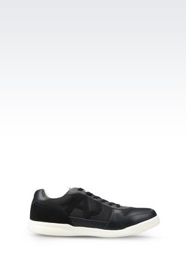 Armani Sneakers Men sneaker in leather and technical fabric