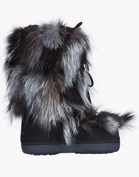fur snow boots schuhe Damen Dsquared2