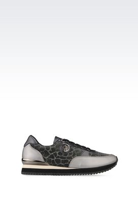 Armani Sneakers Women running shoe in laminated effect leather