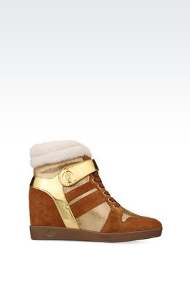 Armani High-top sneakers Women high-top wedge sneaker