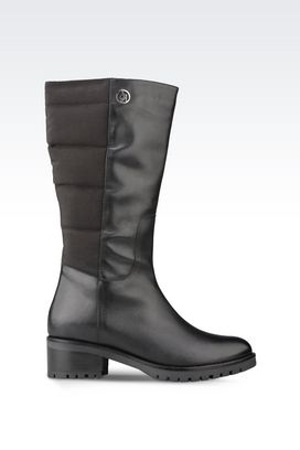 Armani High-heeled boots Women boot in nylon and leather