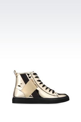 Armani High-top sneakers Women high-top sneaker with mirror effect