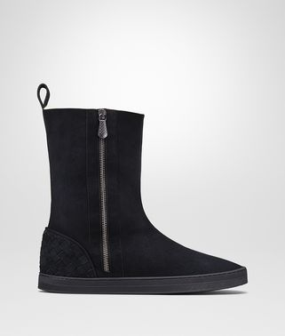 WINTER LAGOON BOOTS IN DARK NAVY MONTONE, INTRECCIATO DETAILS