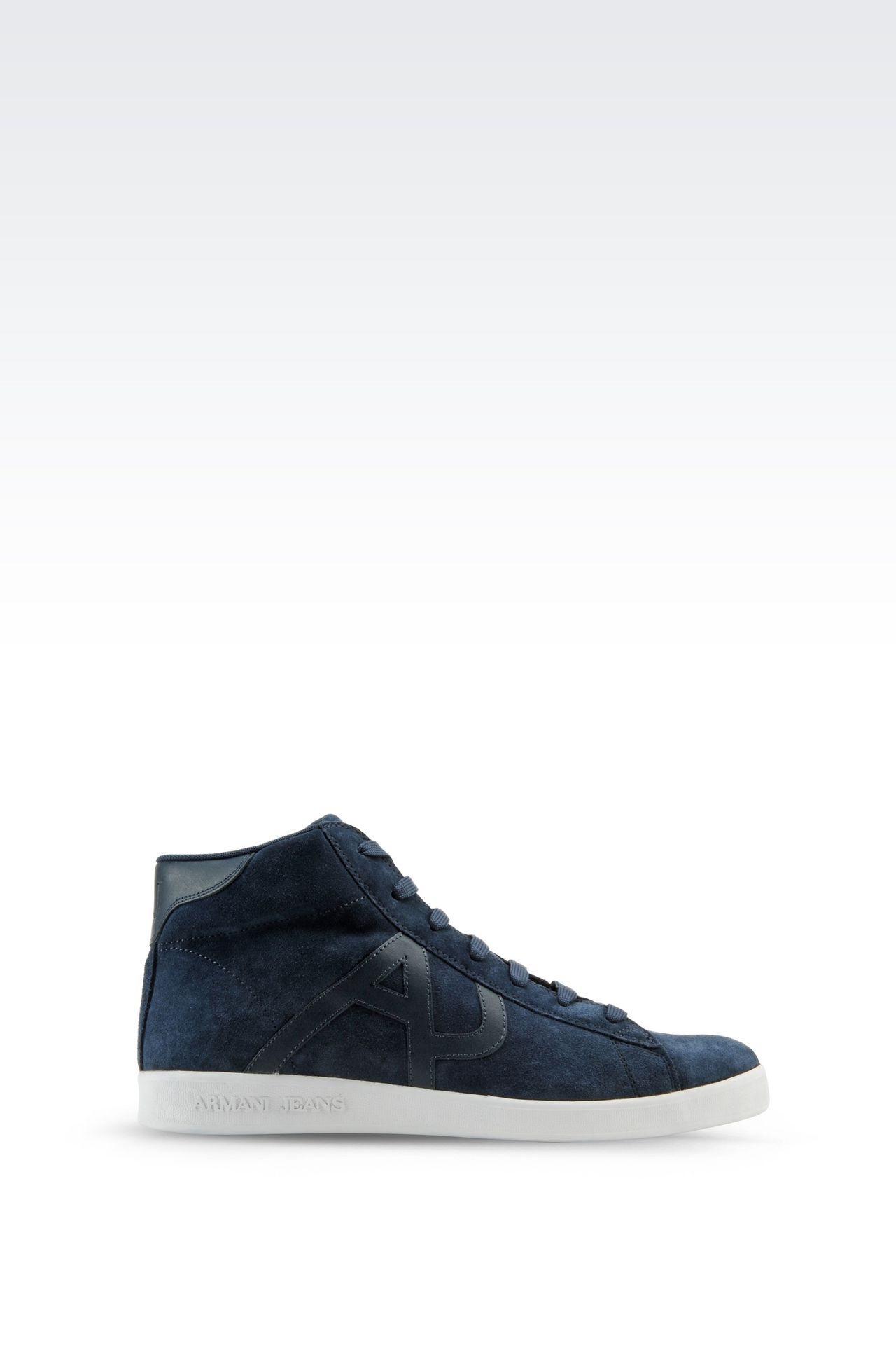 armani jeans men high top suede sneaker bovine. Black Bedroom Furniture Sets. Home Design Ideas