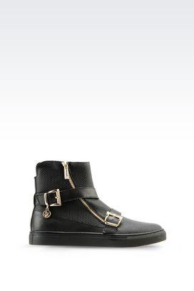 Armani High-top sneakers Women high-top sneaker in leather