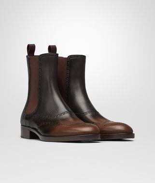 春泥棕深咖啡色小牛皮NOTTINGHAM短靴