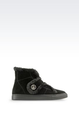 Armani High-top sneakers Women suede ankle boot