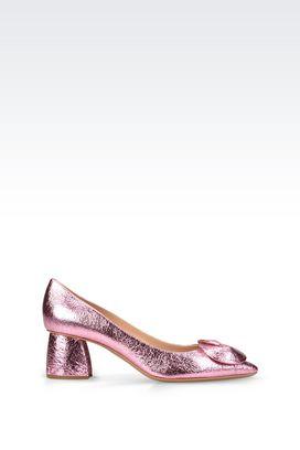 Armani Decolleté Donna scarpa decolleté di sfilata effetto metallizzato