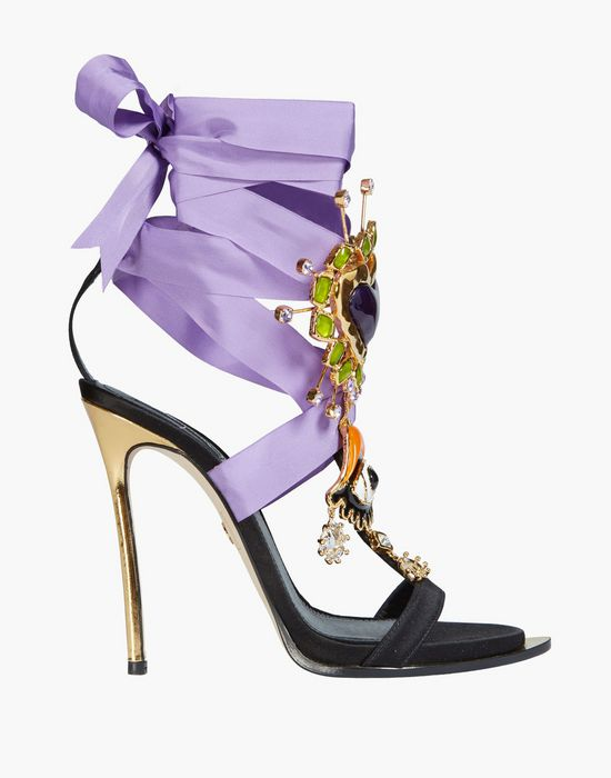 lace-up embellished satin sandals scarpe Donna Dsquared2