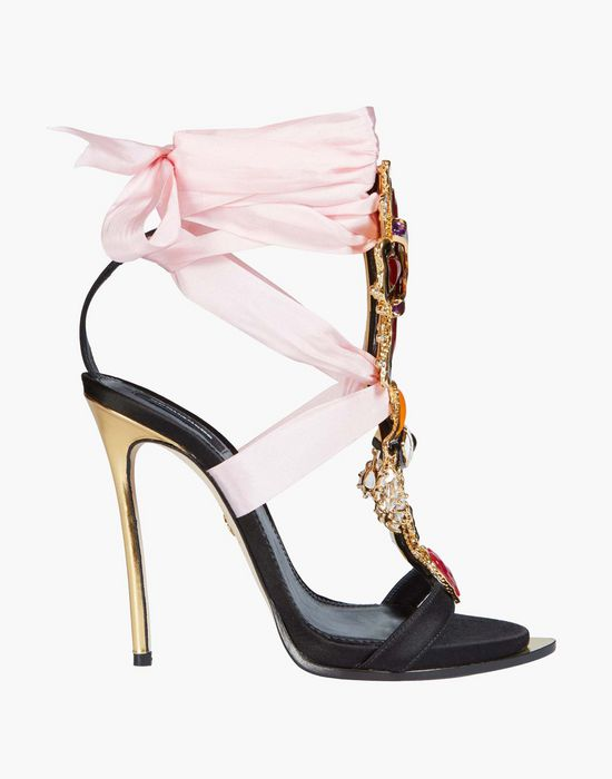 lace-up embellished satin sandals calzado Mujer Dsquared2