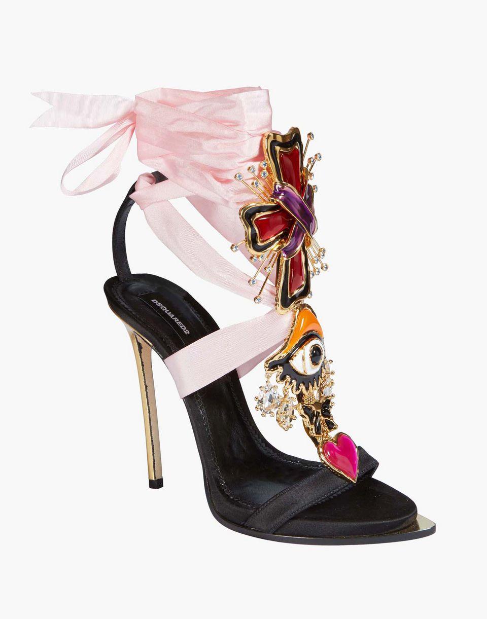 lace-up embellished satin sandals scarpe Donna Dsquared2