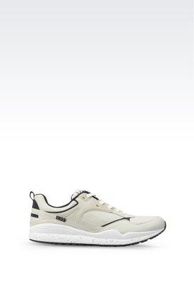 Armani Footwear Men running inspired retro trainer