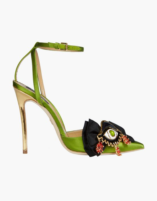 embellished satin slingbacks shoes Woman Dsquared2