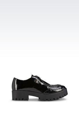 Armani Schnürschuhe Für sie schnürschuhe aus lackleder