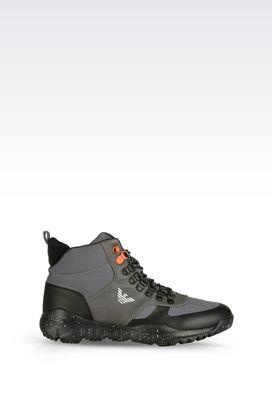 Armani Footwear Men technical fabric ankle boot