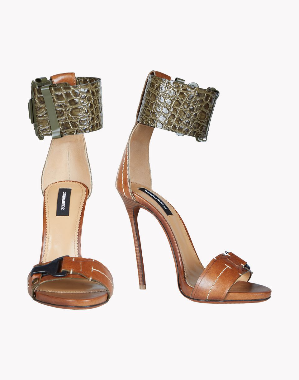 military sandals shoes Woman Dsquared2