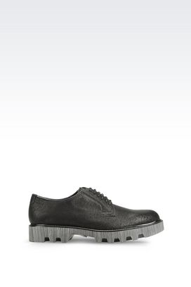 Armani Lace-up shoes Men runway derby in printed calfskin
