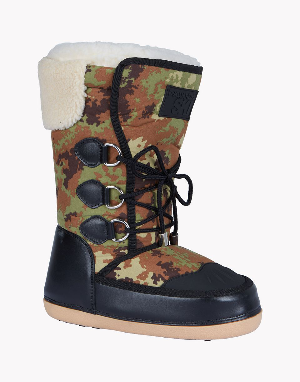 camouflage snowboots shoes Man Dsquared2