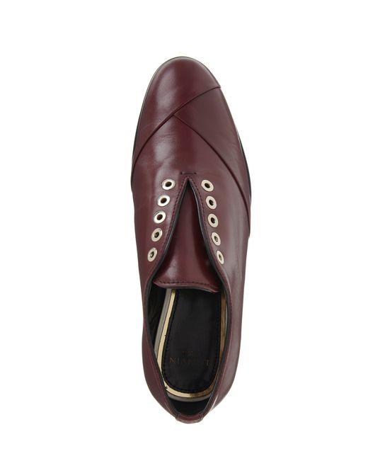 lanvin crossover derby loafer women