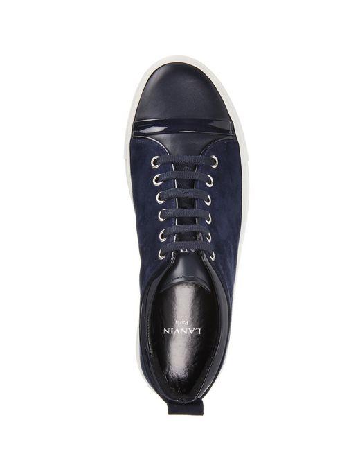 lanvin goatskin leather sneaker women