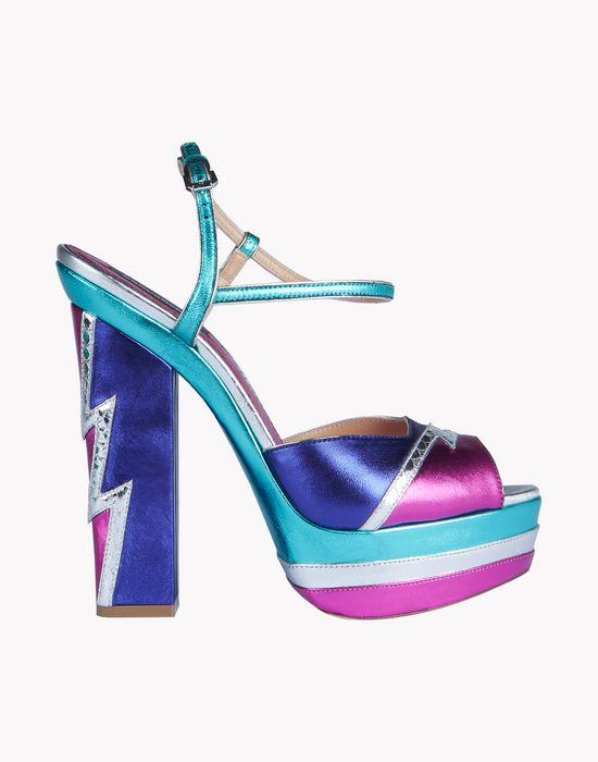glam flash plaform ziggy sandals shoes Woman Dsquared2