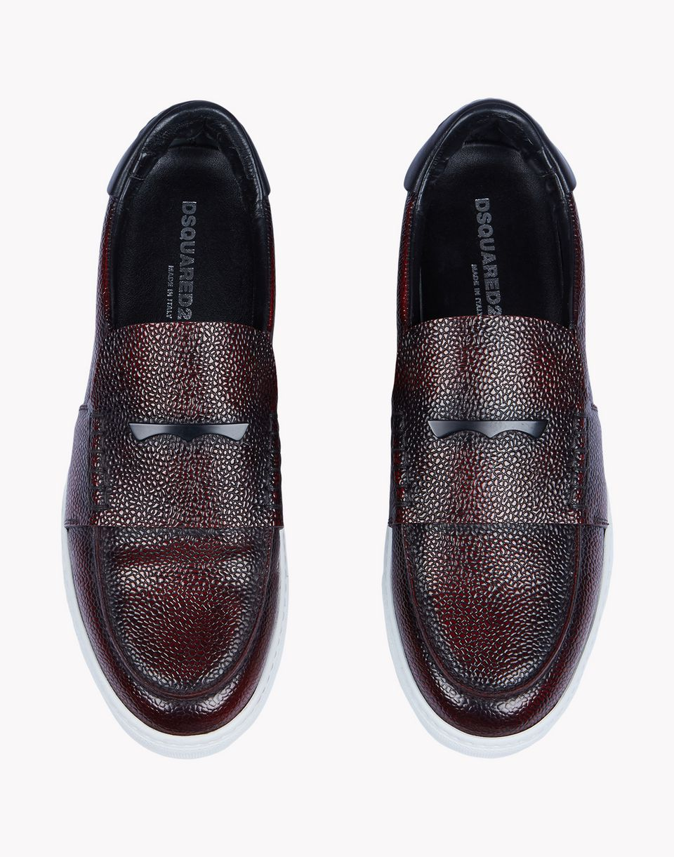 pebble-grain leather slip-ons shoes Man Dsquared2