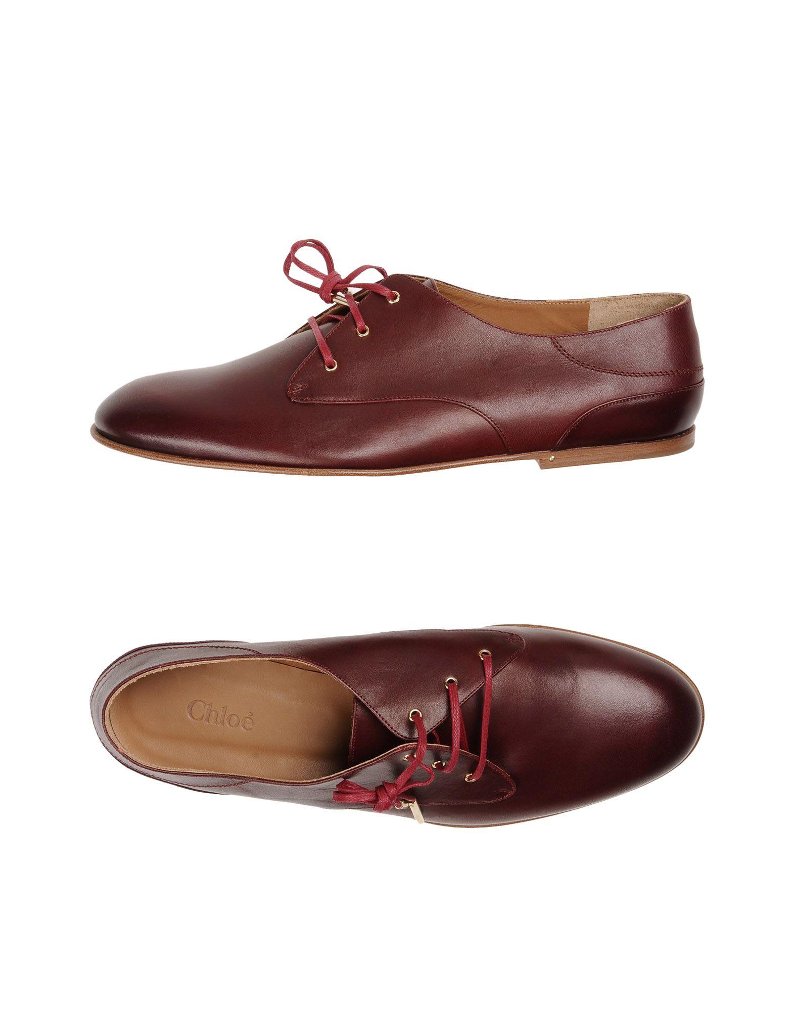 chloe female chloe laceup shoes