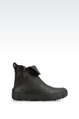 Armani Ankle boots Men runway ankle boot in calfskin