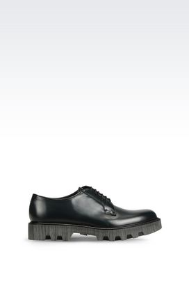 Armani Lace-up shoes Men runway derby in brushed calfskin