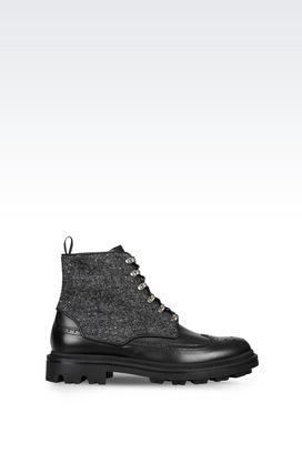 Armani Shoe boots Men heavy-duty boot in calfskin