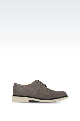 Armani Lace-up shoes Men suede leather brogues