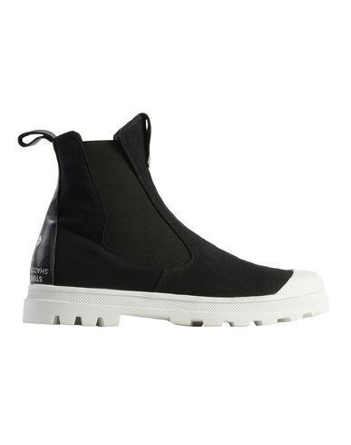 S0222 SLIP-ON BOOT (CANVAS/LEATHER)