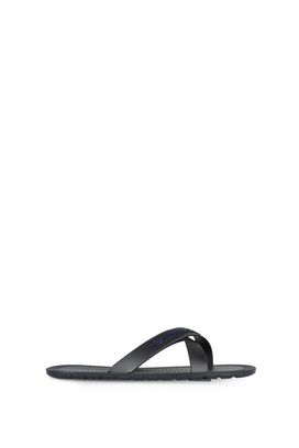 Armani Flat sandals Men criss-cross flat rubber sandals