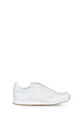 Armani Scarpe Uomo sneakers basse in pelle