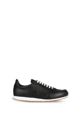Armani Shoes Men leather low-top sneakers