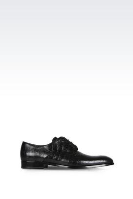 Armani Lace-up shoes Men croc print leather lace-ups