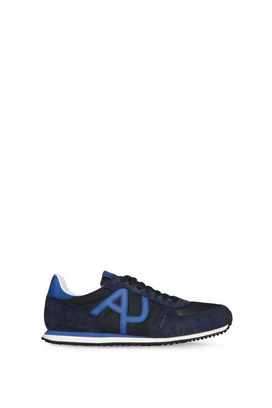 Armani Sneakers Men leather and technical fabric low-top sneakers