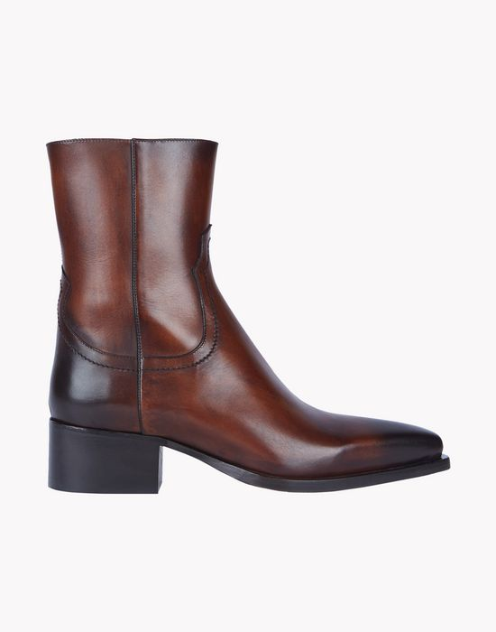 dallas leather boots scarpe Uomo Dsquared2